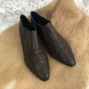 Sam & Libby Shoe Boots 6.5 B Brown Textured